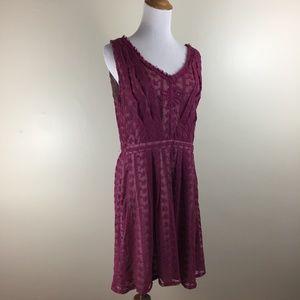 NWT NICK & MO Anthropologie Lace V Neck Dress